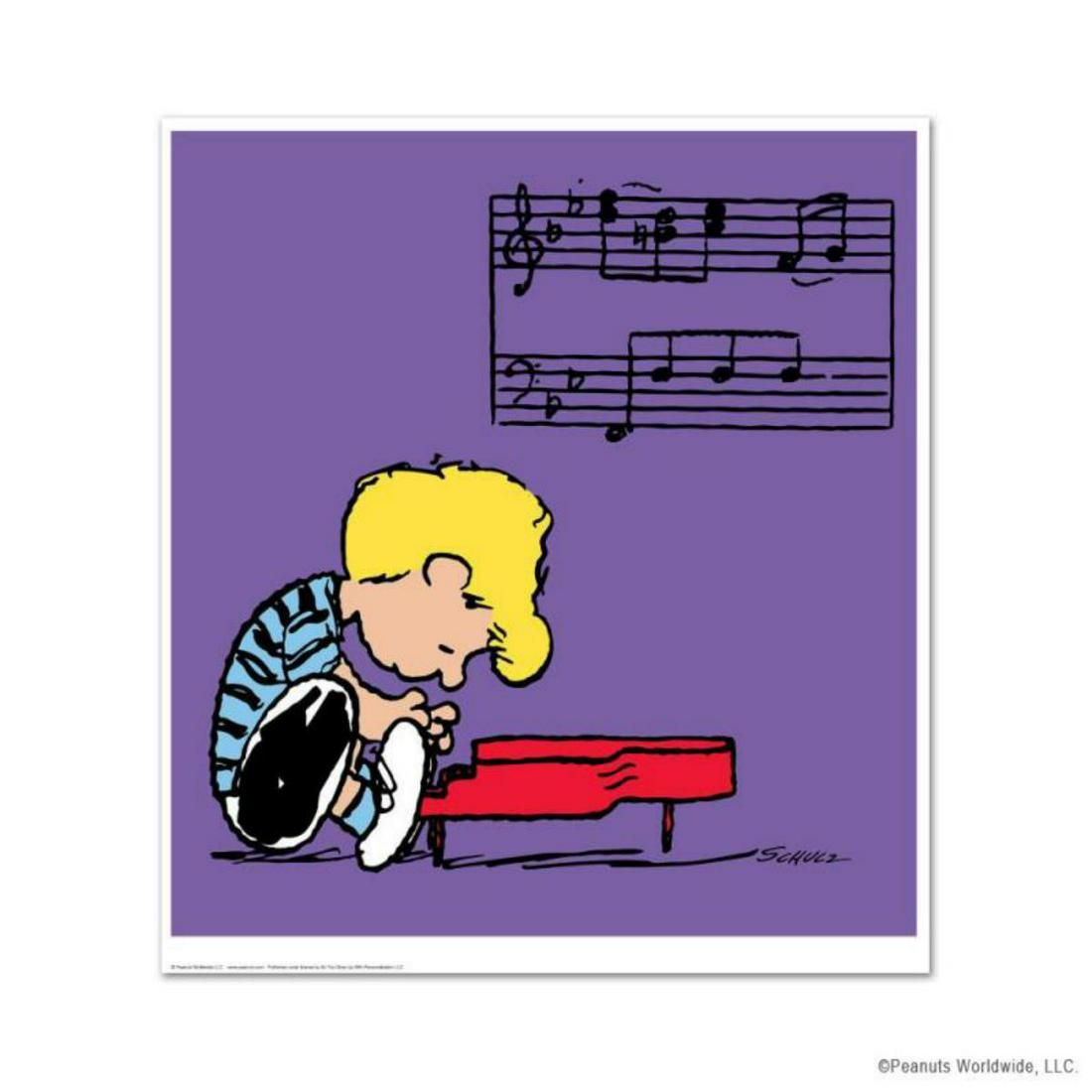 """Peanuts, """"Schroeder"""" Hand Numbered Limited Edition Fine"""