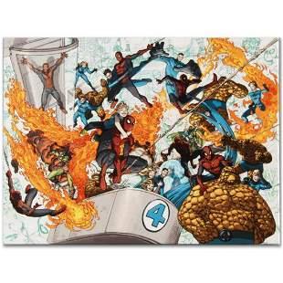 "Marvel Comics ""Spider-Man/Fantastic Four #4"" Numbered"