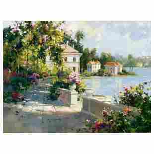 "Marilyn Simandle, ""Riviera Walk"" Hand Embellished"