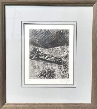 """Marc Chagall Offset Lithograph """"Les Fables de la"""