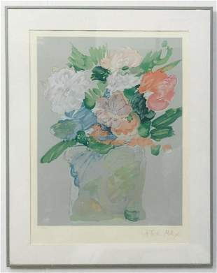 """PETER MAX LITHOGRAPH ON PAPER """"""""SPRING BOUQUET"""""""