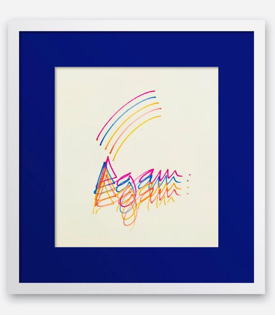 Yaacov Agam Original Drawing on Paper