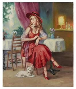 "Taras Sidan- Original Giclee on Canvas ""Juliette"""