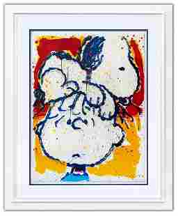 """Tom Everhart- Hand Pulled Original Lithograph """"Hair"""