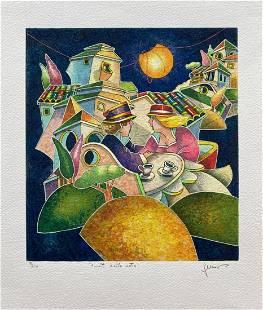 """Francesco Nesi- Original Serigraph on Paper """"AVVOLTI"""