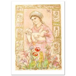 """Raquela"" Limited Edition Lithograph by Edna Hibel"