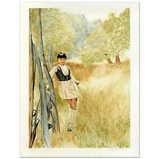 """William Nelson, """"Girl in Meadow"""" Limited Edition"""