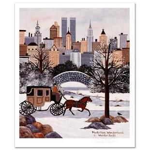 """Jane Wooster Scott, """"Manhattan Wonderland"""" Hand Signed"""