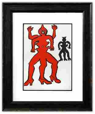 """Alexander Calder- Lithograph """"DLM212 - Une famille de"""