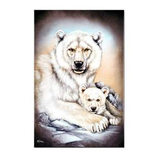 """Polar Bears"" Limited Edition Giclee on Canvas by"