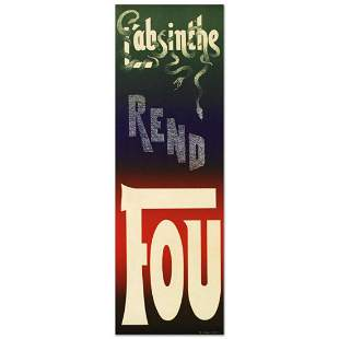 """RE Society, """"L'Absinthe Rend Fou"""" Hand Pulled"""