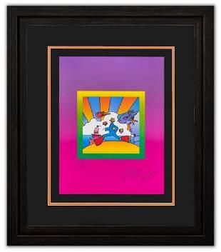 "Peter Max- Original Lithograph ""Cosmic Runner on Blends"