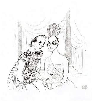 "Al Hirschfeld- Original Lithograph on Paper ""Anthony &"