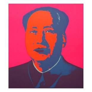 "Andy Warhol ""Mao Pink"" Silk Screen Print from Sunday B"