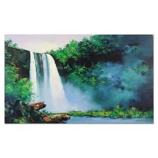 "Thomas Leung, ""Wailua Falls"" Hand Embellished Limited"