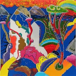 "Luca Alinari ""paesaggio in BLU"" Original Serigraph"