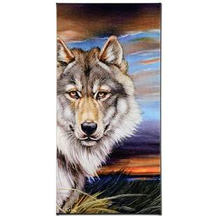 """""""Wolf"""" Limited Edition Giclee on Canvas by Martin"""