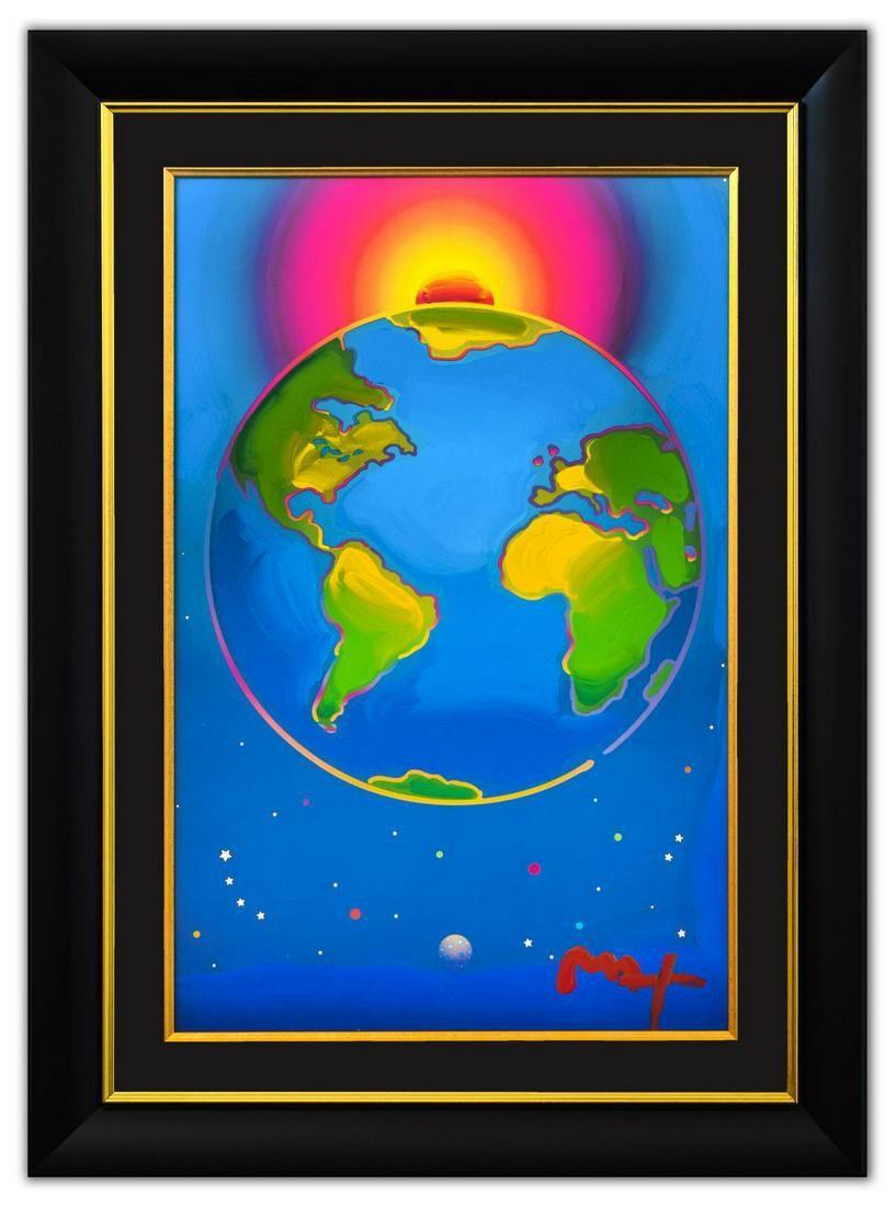 """Peter Max- Original Mixed Media """"Earth"""""""