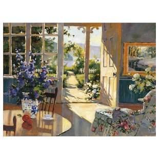 """Marilyn Simandle, """"Sunlit Cottage"""" Limited Edition on"""