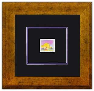 "Peter Max- Original Lithograph ""Sailboat on the Horizon"