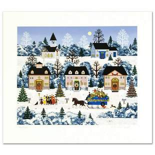 """Jane Wooster Scott, """"Holiday Sleigh Ride"""" Hand Signed"""