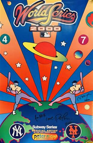 Peter Max World Series commemorative poster