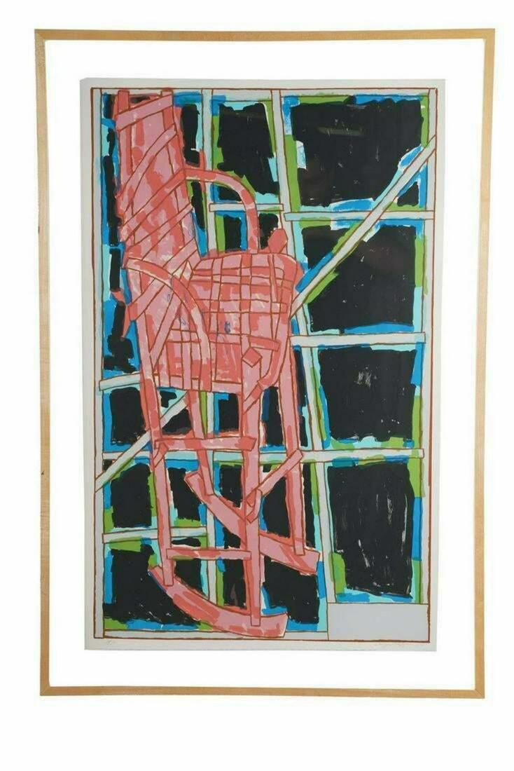 Craig Kauffman Color lithograph on white Arches paper