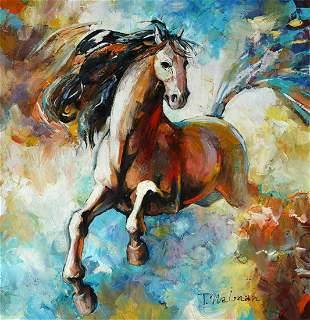 "Naiman Orignal Acrylic on Canvas ""Untitled"""