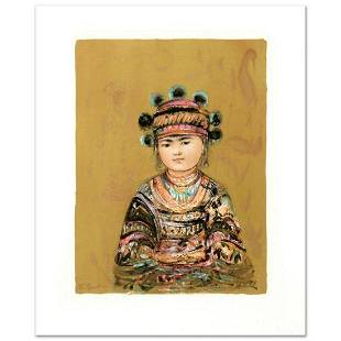 """""""Hill Tribe Youth"""" Limited Edition Lithograph by Edna"""