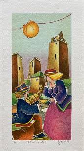 "Francesco Nesi- Original Serigraph on Paper ""INTIMO"