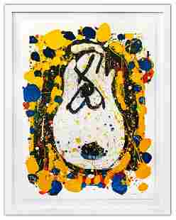 """Tom Everhart- Hand Pulled Original Lithograph """"Squeeze"""