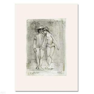 """""""Two Dancers"""" Limited Edition Lithograph by Edna Hibel"""