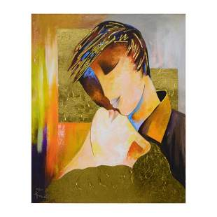 """Arbe, """"Adore You"""" Limited Edition on Canvas with Gold"""