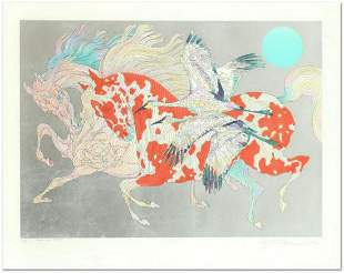 Guillaume Azoulay- Serigraph with Hand Laid Silver Leaf