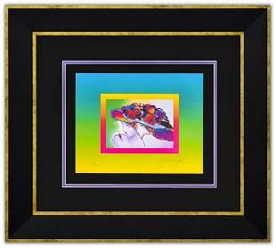 "Peter Max- Original Lithograph ""Friends on Blends"""