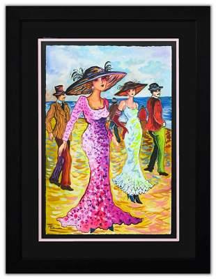 "Patricia Govezensky- Original Watercolor ""San Francisco"