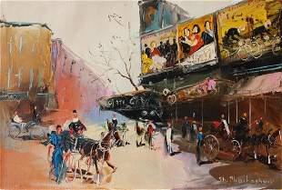 "Shalva Phachoshvili- Original Oil on Canvas ""Movie"
