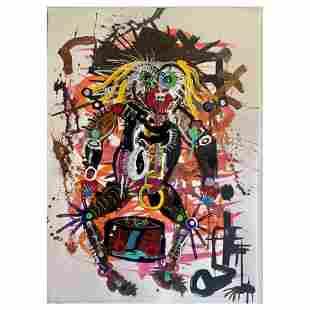 "Paul Kostabi, ""Sub-Culture of One"" Hand Signed Original"