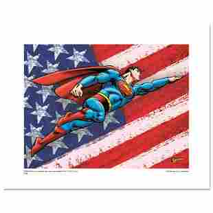 """""""Superman Patriotic"""" Numbered Limited Edition Giclee"""