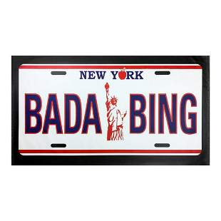 "Steve Kaufman (1960-2010) ""BADA BING"" Hand Signed and"