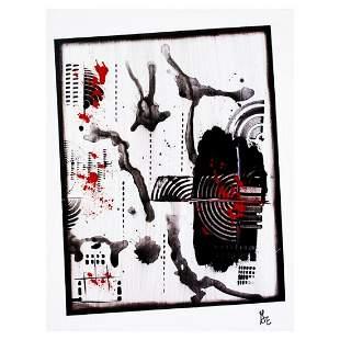 """George Marlowe, """"On Tilt"""" Original Acrylic Painting on"""