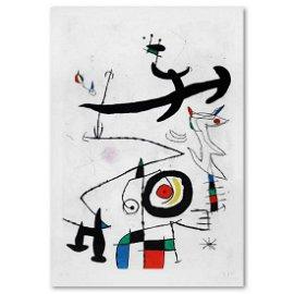 """Joan Miro (1893-1983), """"Village D'Oiseaux"""" Limited"""