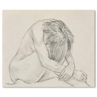 "Charles Lynn Bragg, ""Sorrow"" Original Pencil Drawing,"