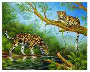 "Vera V. Goncharenko- Original Oil on Canvas ""Hunt"""