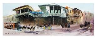 "Shalva Phachoshvili- Original Oil on Canvas ""Main"