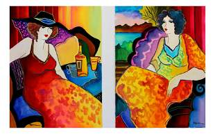 Patricia Govezensky- Set of Two Original Watercolors