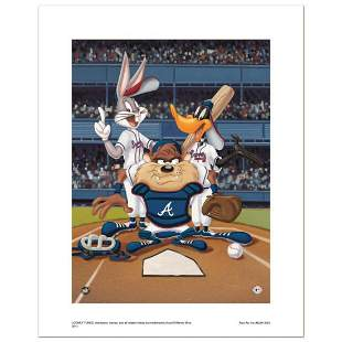 """""""At the Plate (Braves)"""" Numbered Limited Edition Giclee"""