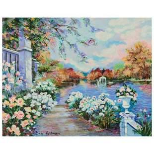 "Zina Roitman, ""Lac Fleuri"" Limited Edition Serigraph on"