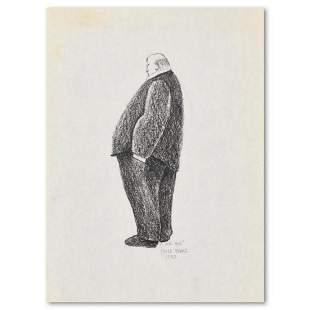 "Charles Lynn Bragg, ""Mr. Big"" Original Pencil Drawing,"