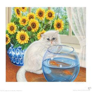 """""""Home Alone"""" Limited Edition Lithograph by Barbara"""